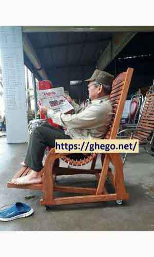 Ghế gỗ nghiến tự nhiên