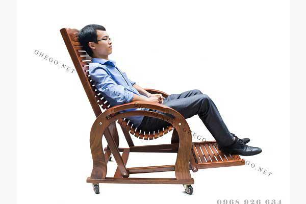 Ghế thư giãn gỗ Đoàn Minh
