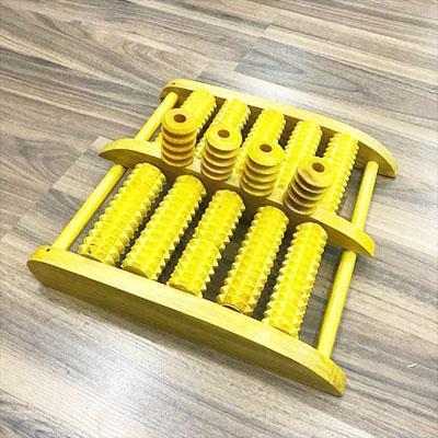 bàn lăn chân gỗ 5 hàng